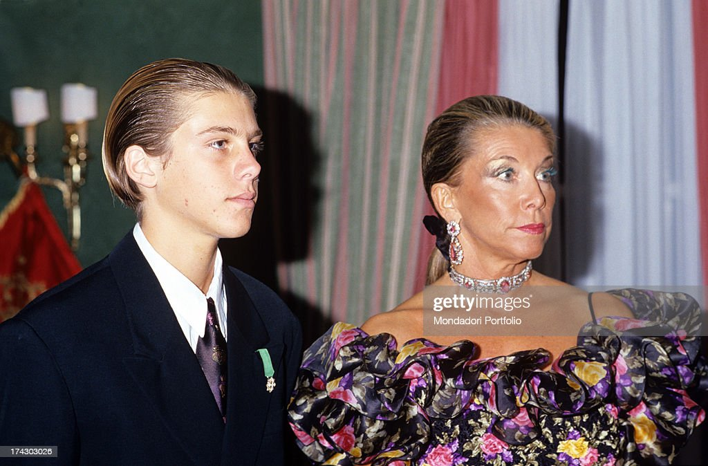 A Young Emanuele Filiberto With His Mother : News Photo