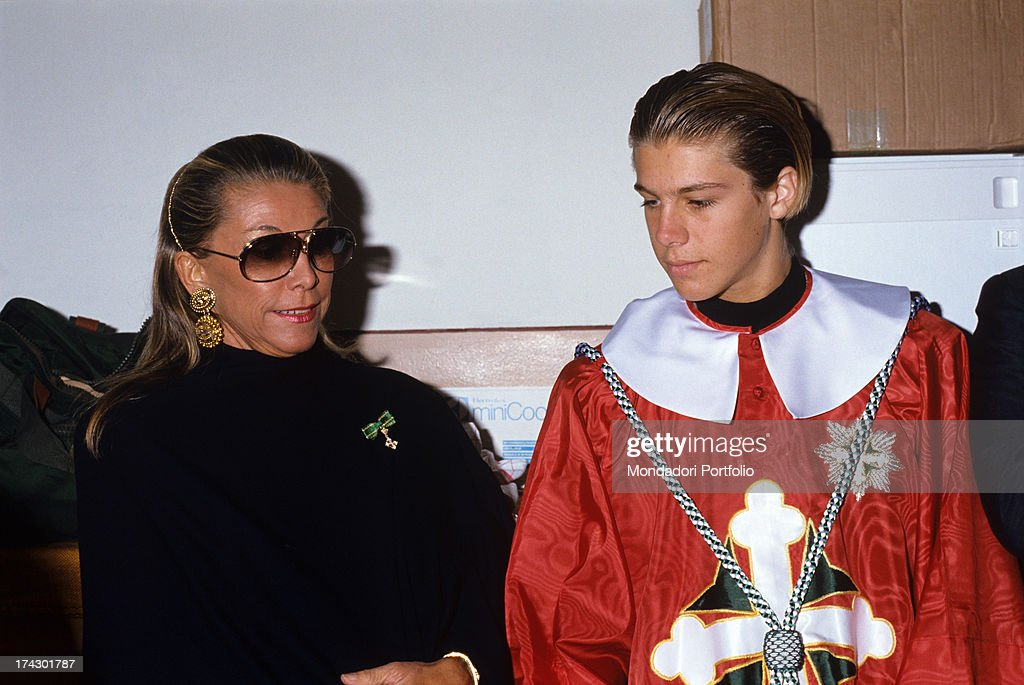 Emanuele Filiberto Wearing The Piemontese Prince'S Clothing, Next To His Mother : News Photo