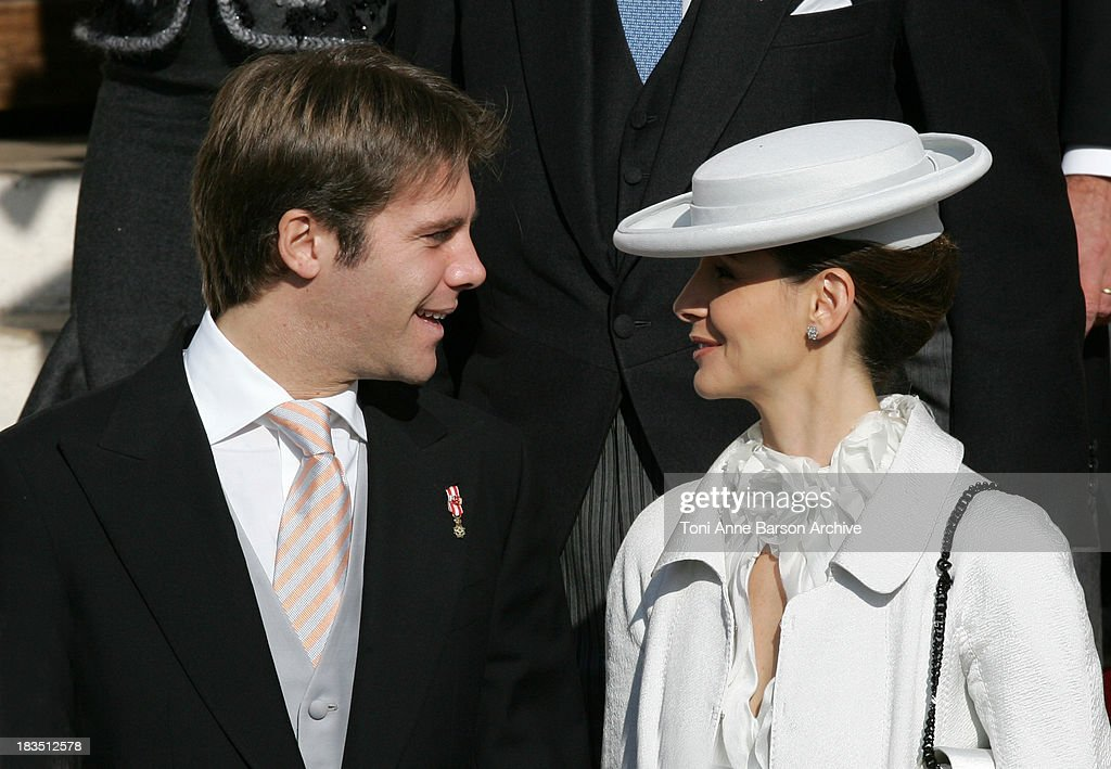 Prince Emmanuel Filiberto de Savoy and Princess Clotilde Courau