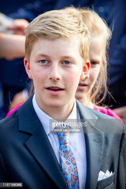 Prince Emmanuel of Belgium attend the military parade during Belgian National Day on July 21 2019 in Brussels Belgium
