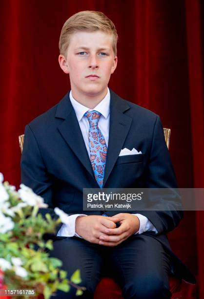 Prince Emmanuel of Belgium attends the military parade during Belgian National Day on July 21 2019 in Brussels Belgium