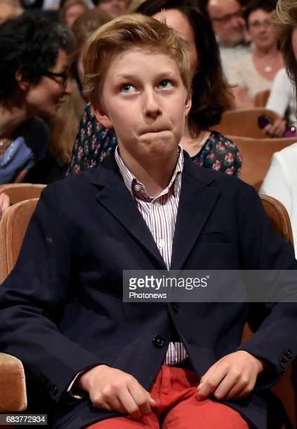 Prince Emmanuel pictured attending the the sessions of the 2017 Queen Elisabeth Cello Competition