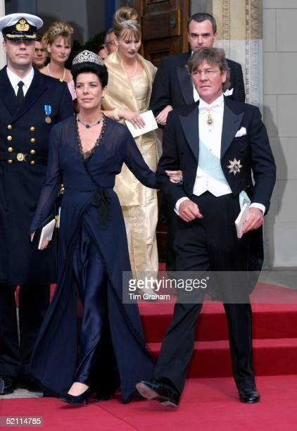 Prince Ernst And Princess Ernst Of Hanover At The Royal Wedding In Copenhagen Cathedral