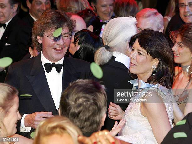 Prince Ernst August and Princess Caroline of Hanover dances at the Rose Ball 2005 at The Sporting Monte Carlo on March 19 2005 in Monte Carlo Monaco