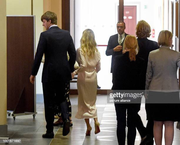 Prince Ernst August of Hanover and his wife fashion designer Ekaterina Malysheva photographed at the Neues Rathaus town hall in Hanover Germany 6...