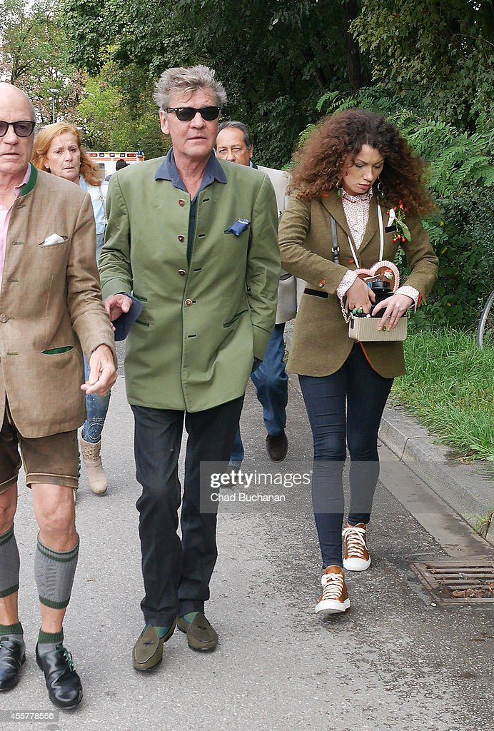 Prince Ernst August of Hanover (L) and Simona sighted during Oktoberfest at Theresienwiese on September 20, 2014 in Munich, Germany.