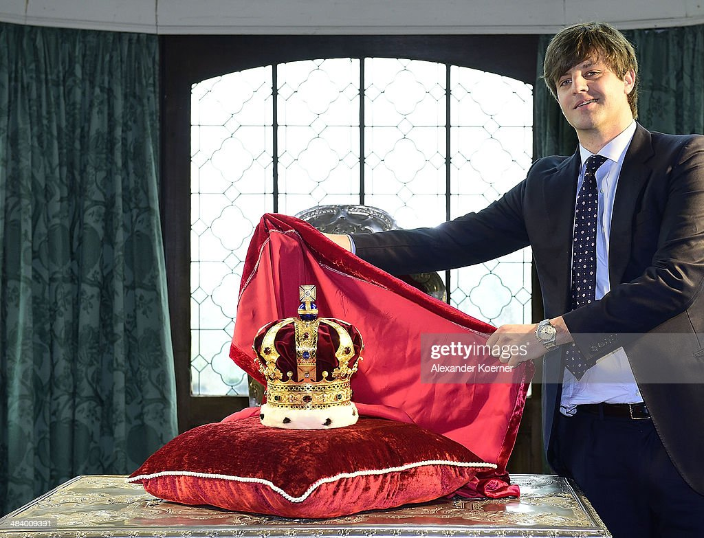 Prince Ernst August of Hanover attends the presentation of the Royal Crown of Hanover at Schloss Marienburg palace on April 11, 2014 in Pattensen, Germany. The city of Hanover is scheduled to hold a celebration for the British Royal Family to mark the '300-year personal union' in May and June this year. Prince Andrew, Duke of York, is expected to take part in the celebrations in June.