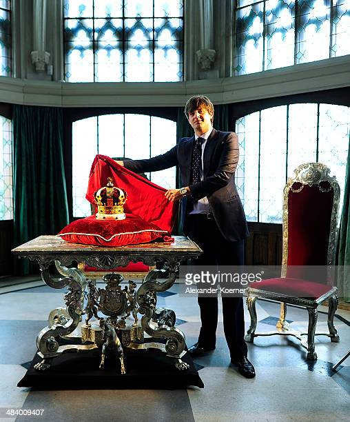 Prince Ernst August of Hanover attends the presentation of the Royal Crown of Hanover at Schloss Marienburg palace on April 11 2014 in Pattensen...