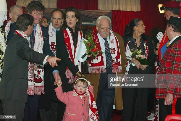 Prince Ernst August of Hanover his daughter Alexandra Prince Albert of Monaco Princess Caroline of Monaco Prince Ranier and Princess Stephanie arrive...