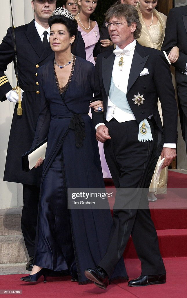 Prince Ernst Of Hanover And Princess Ernst (formerly Princess Caroline Of Monaco) At The Royal Wedding In Copenhagen Cathedral