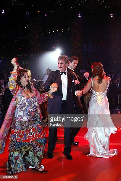 Prince ErnstAugust of Hanover dances with guests at the 2007 Monte Carlo Rose Ball at the MonteCarlo Sporting Club on March 24 2007 in Monte Carolo...