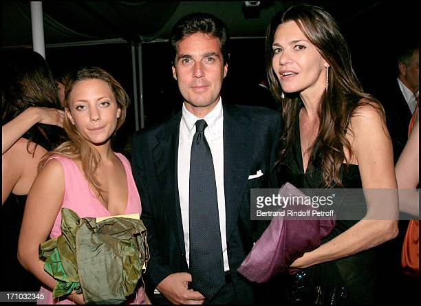 Prince Fabio Borghese with Carla Maria Orsi Carbone and Maria Sole Torlonia Dinner at the Fendi Palazzo in Rome for the launch of the new perfume...