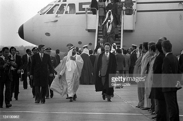 Prince Fahd at the summit of Opep in Algiers Algeria in March 1975 Sheikh Zayed bin Sultan alNahyan Houari Boumedienne