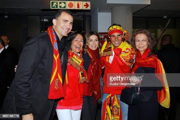 Prince Felipe Ana Patricia Botin Princess Letizia Rafael Nadal and Queen Sofia