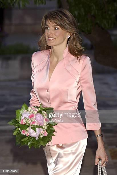 Prince Felipe and 3 months pregnant Princess Letizia Visit the Tourism and Restauration School of Mallorca during the first day of their one week...