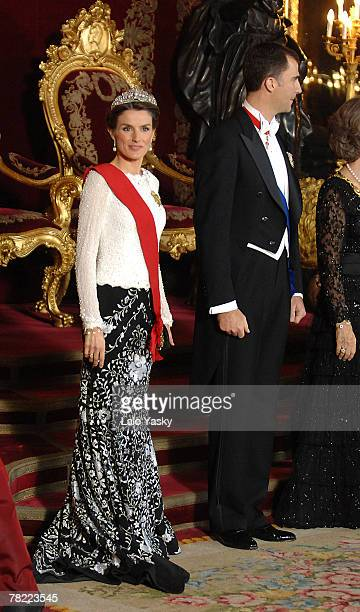 Prince Felipe and Princess Letizia attend the Gala Dinner in honour of the President of The Philippines Gloria Macapagal and her husband Jose Miguel...