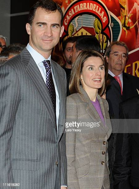 Prince Felipe and Princess Letizia attend the opening of the international gastronomic fair ALIMENTARIA 2008 at the FIRA on March 10 2008 in...