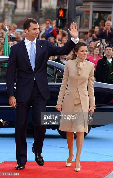 Prince Felipe and Princess Letizia during 24th Annual Prince of Asturias Awards Ceremony at Campoamor Theatre in Oviedo Oviedo Spain