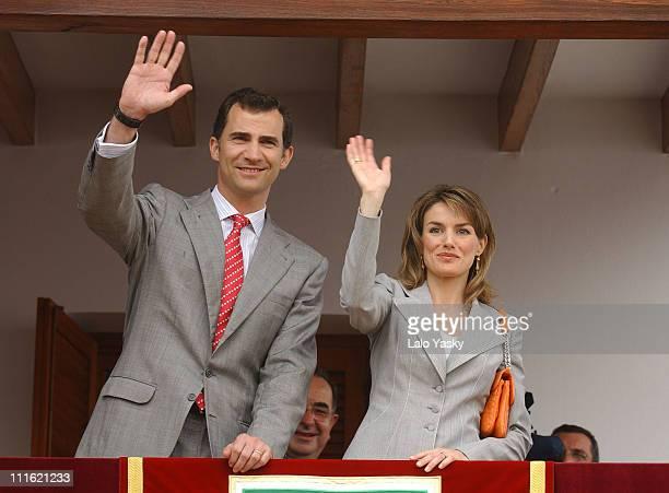 Prince Felipe and Princess Letizia during Prince Felipe and Princes Letizia Visit Formentera Island City Hall at City Hall in Formentera Island Spain