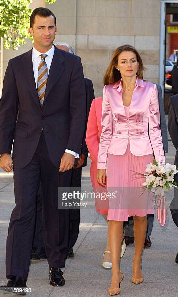 Prince Felipe and Princess Letizia during Prince Felipe and Princess Letizia of Spain Attend Opening of 'Espana Nexo entre la Union Europea y...