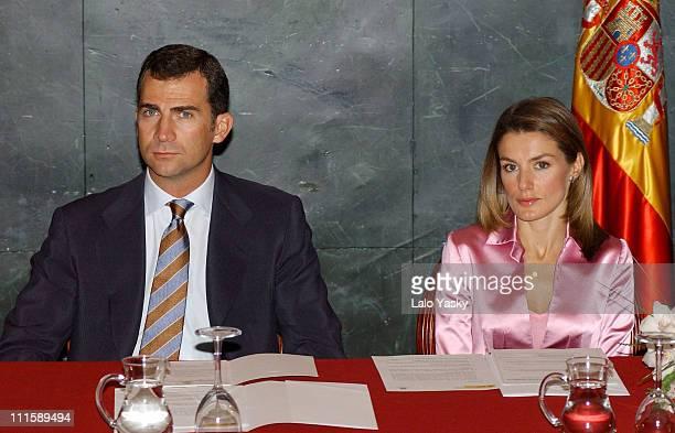 Prince Felipe and Princess Letizia during Prince Felipe and Princess Letizia of Spain Attend Opening of 'Espana Nexo entre la Union Europea y...