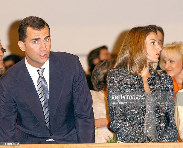 Prince Felipe and Princess Letizia during Spanish Royals Attend Concert In Homage To Terrorism Victims at Auditorio Nacional de Moesica in Madrid...