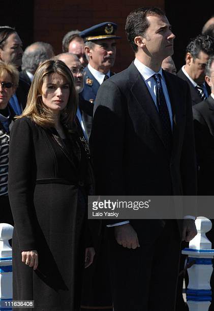 TRH Prince Felipe and Princess Letizia during Spanish Royals Preside Over the Unveiling of Monument in Memory of the Victims of March 11 2004...