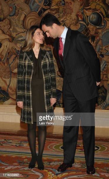 TRH Prince Felipe and Princess Letizia during TRH Crown Prince Felipe and Princess Letizia Receive a Group of Future Young Chinese Leaders March 5...