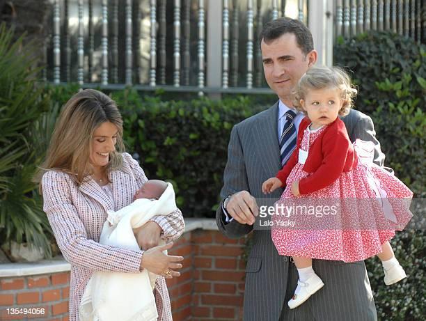 TRH Prince Felipe and Princess Letizia Infanta Leonor and Infanta Sofia