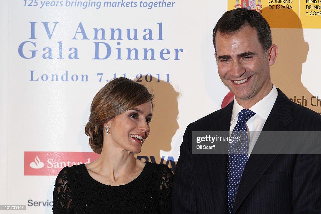 Prince Felipe And Princess Letizia Of Spain Visit London : News Photo