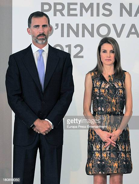 Prince Felipe and Princess Letizia of Spain attend 'Spanish Innovation and Design Awards' at Veles i Vents Building on September 16 2013 in Valencia...