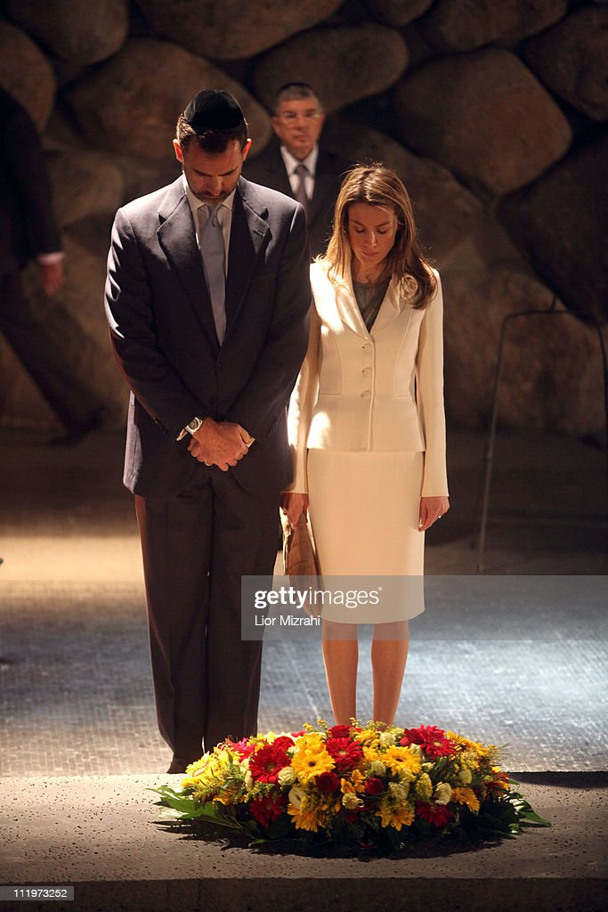 Spanish Royals Visit Yad Vashem Museum : Foto di attualità