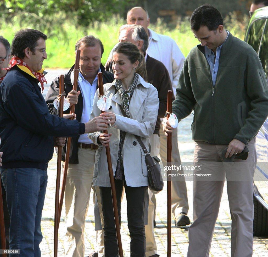 Prince Felipe And Princess Walk The Way Of Saint James : News Photo