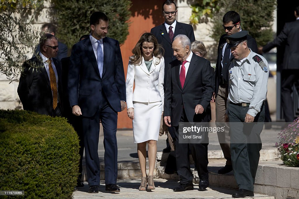 Prince Felipe And Princess Letizia of Spain's First Visit To Israel : Foto di attualità