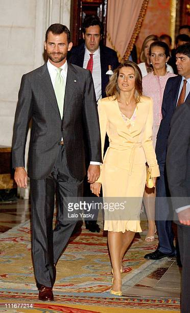 Prince Felipe and Princess Letizia This is the first appearence of the royal couple after their honeymoon