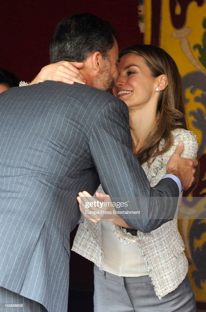 Prince Felipe attends Princess Letizia's table in Red Cross Fundraising Day on October 10, 2012 in Madrid, Spain.