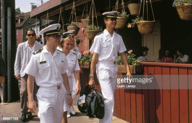 Prince Felipe in the Navy Academy of Annapolis