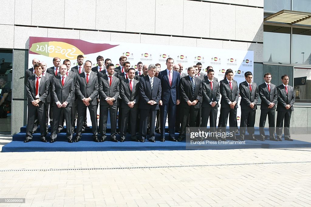 Prince Felipe of Spain and guests attend the opening of the Spanish Football Federation Museum on May 24, 2010 in Madrid, Spain.
