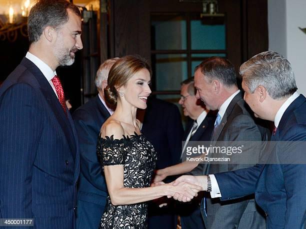 Prince Felipe of Spain and Princess Letizia attend the United StatesSpain Council Forum dinner on November 15 in Santa Barbara California