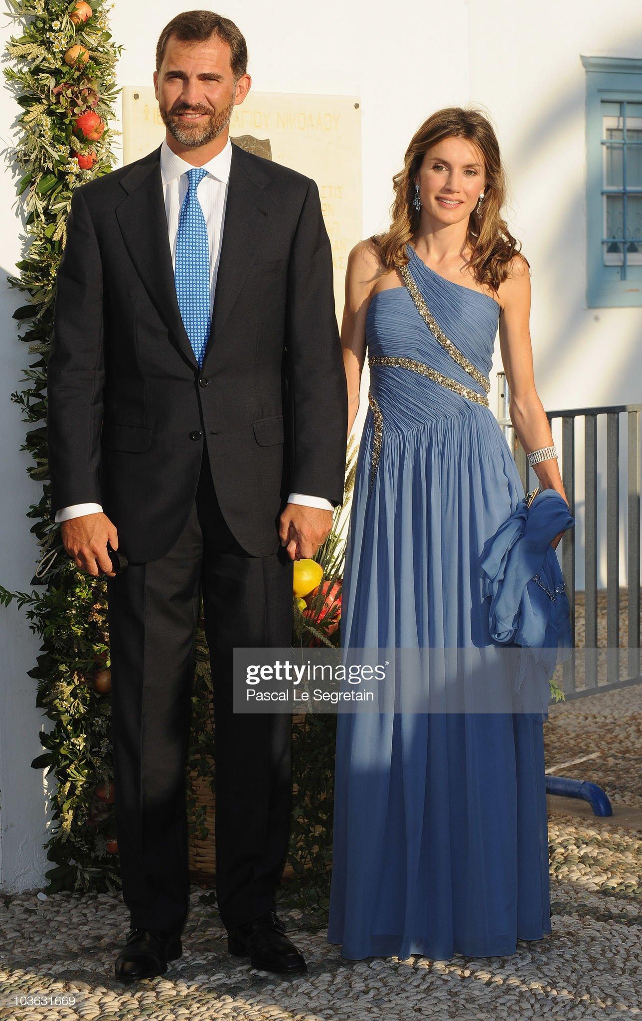 Вечерние наряды Королевы Летиции Wedding of Prince Nikolaos and Miss Tatiana Blatnik - Wedding Service : News Photo