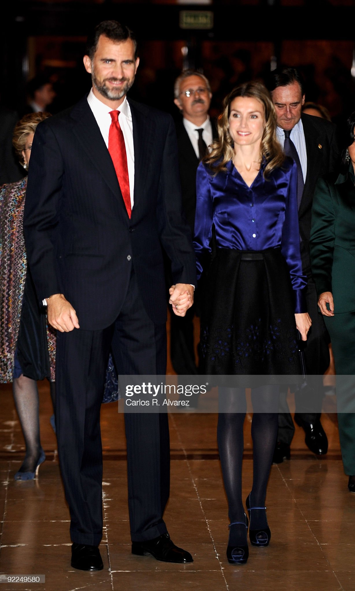 Spain´s Prince Felipe and Princess Letizia Attends a Concert in Asturias : News Photo