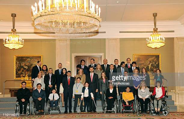 Prince Felipe of Spain and Princess Letizia of Spain attend Audiences at Zarzuela Palace on March 15 2011 in Madrid Spain