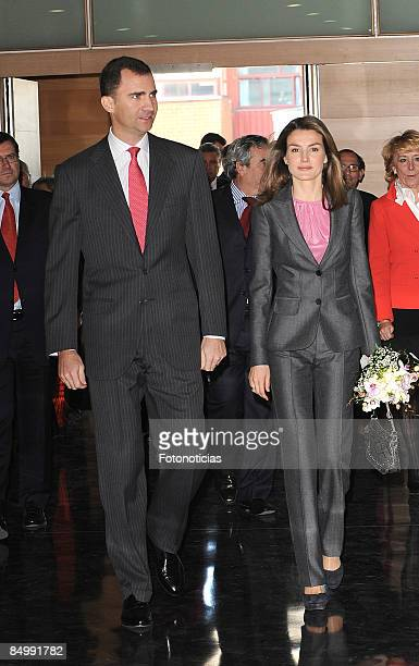 Prince Felipe of Spain and Princess Letizia of Spain attend CEU 75th anniversary at Monteprincipe Campus on February 23 2009 in Madrid Spain