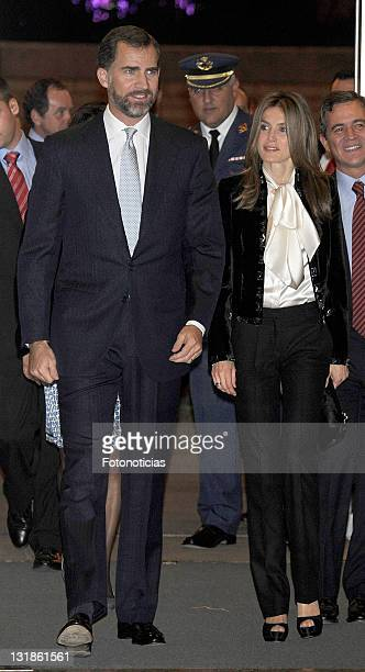 Prince Felipe of Spain and Princess Letizia of Spain attend 'Codespa' XXV Anniversary concert at the Auditorio Nacional de Musica on November 4 2010...