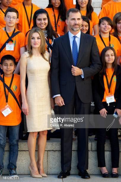 Prince Felipe of Spain and Princess Letizia of Spain attend Iberoamerican Congress LEERES at Palacio de Congresos on September 5 2012 in Salamanca...