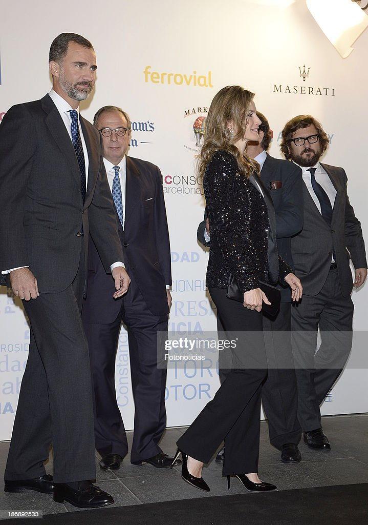 Prince Felipe of Spain and Princess Letizia of Spain attend 'La Razon' newspaper 15th anniversary party on November 4, 2013 in Madrid, Spain.