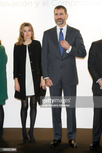 Prince Felipe of Spain and Princess Letizia of Spain attend 'Seres 2012 Awards' at Auditorio Rafael del Pino on October 31 2012 in Madrid Spain