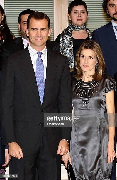 Prince Felipe of Spain and Princess Letizia of Spain attend Spanish Youth Congress 25th anniversary dinner at the Palacio de Congresos on November 18...