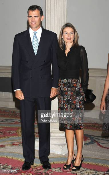 Prince Felipe of Spain and Princess Letizia of Spain attend the Ambassadors Conference Dinner at Palacio de Viana on September 8 2008 in Madrid Spain