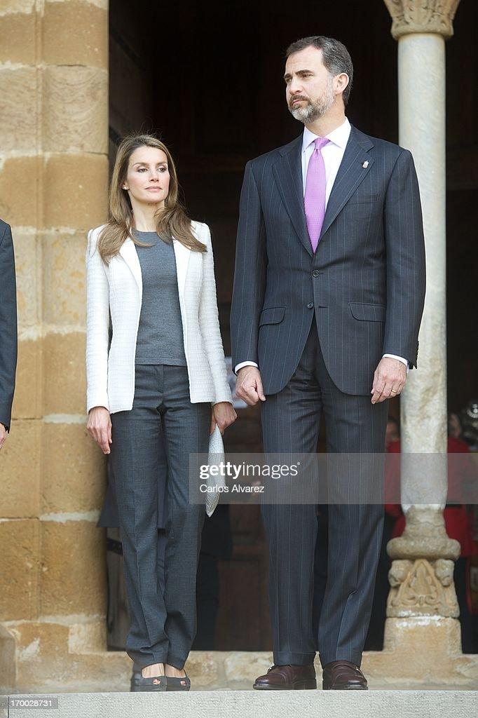 Spanish Royals Visit Navarra : News Photo